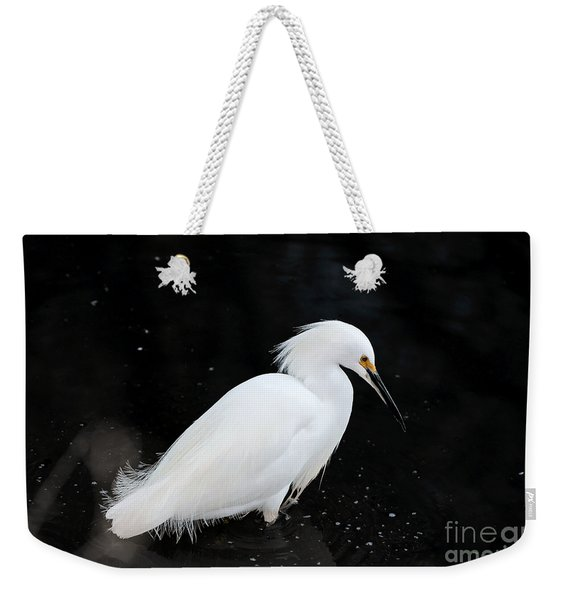 Young Snowy Egret Weekender Tote Bag