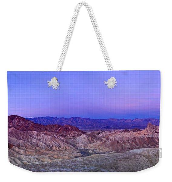Zabriskie Sunrise Panorama - Death Valley National Park. Weekender Tote Bag