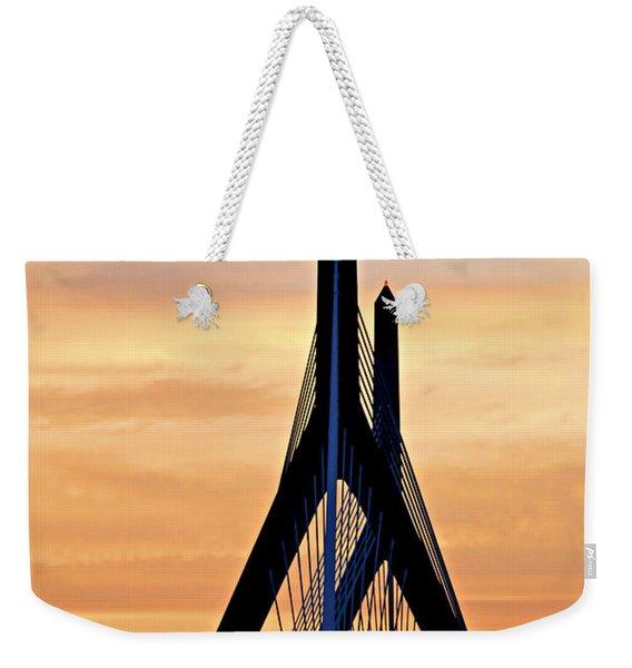 Zakim Bridge In Boston Weekender Tote Bag