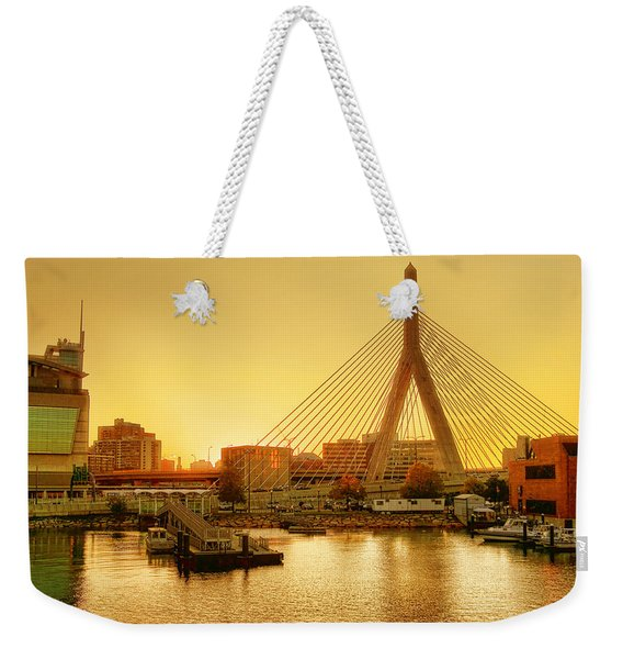 Zakim Bridge Sunset Weekender Tote Bag