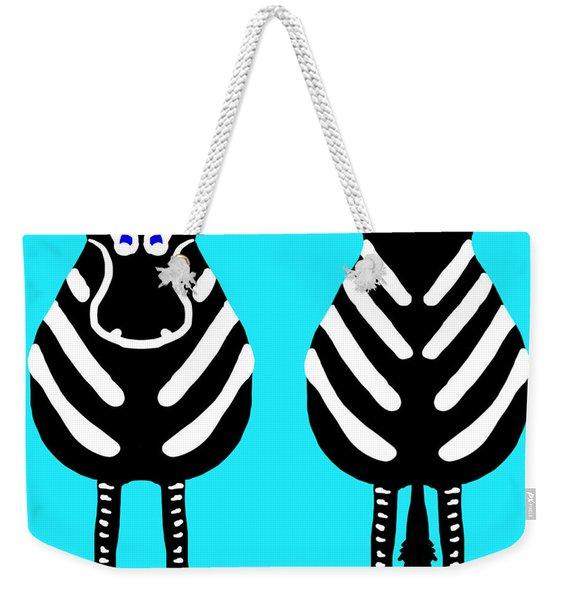 Zebra - Both Ends Weekender Tote Bag
