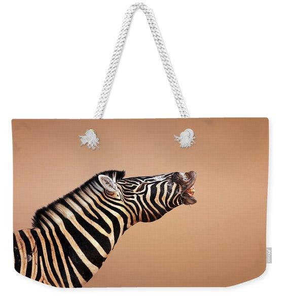 Zebra Calling Weekender Tote Bag