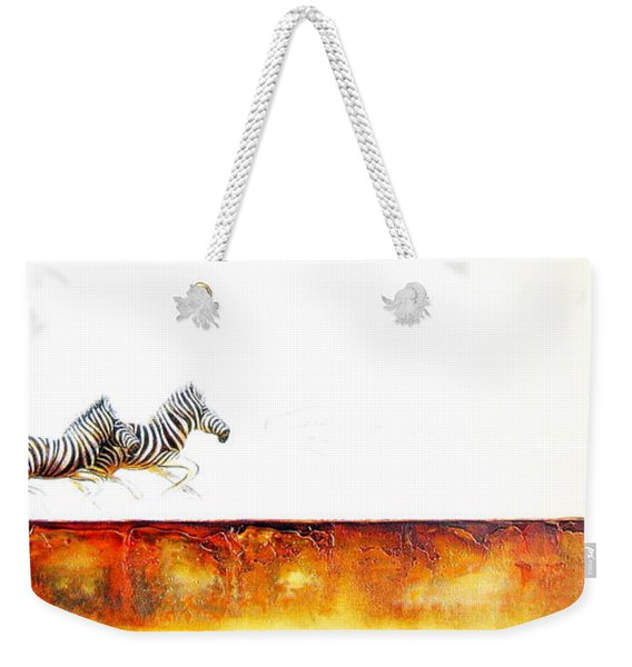 Zebra Crossing - Original Artwork Weekender Tote Bag