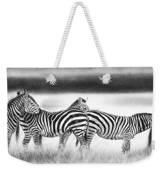 Zebra Panarama Weekender Tote Bag