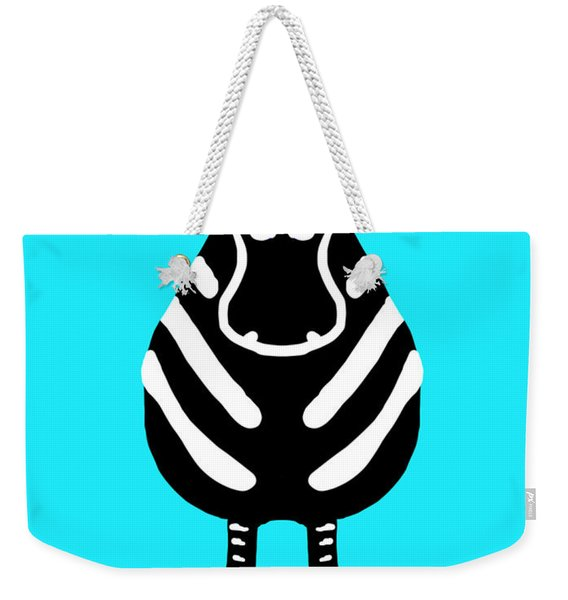 Zebra - The Front View Weekender Tote Bag