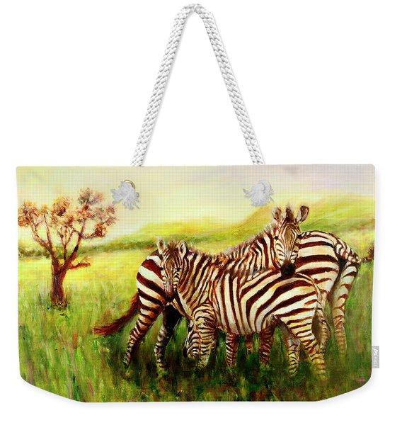 Zebras At Ngorongoro Crater Weekender Tote Bag