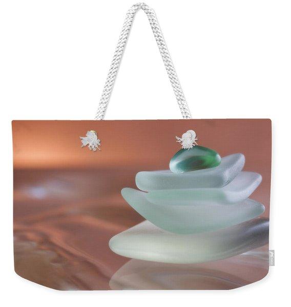 Zen Beach Glass Weekender Tote Bag