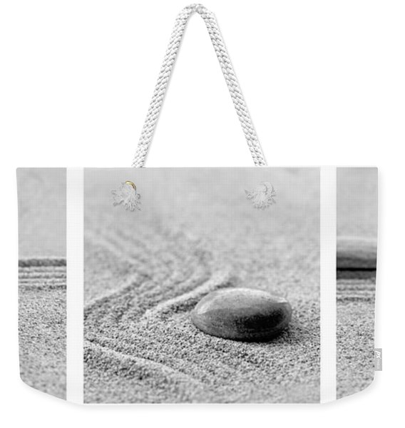 Zen Black And White Triptych Weekender Tote Bag