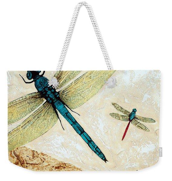 Zen Flight - Dragonfly Art By Sharon Cummings Weekender Tote Bag