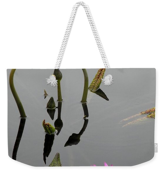 Weekender Tote Bag featuring the photograph Zen Lilies by Kim Bemis