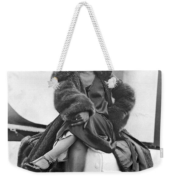 Ziegfeld Dancer Arrives In Ny Weekender Tote Bag