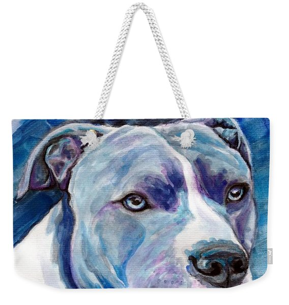 Weekender Tote Bag featuring the painting Ziggy by Ashley Kujan