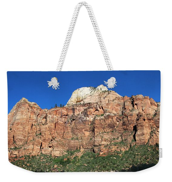 Weekender Tote Bag featuring the photograph Zion Wall by Jemmy Archer