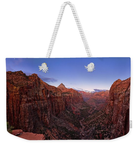Zion's Twilight Weekender Tote Bag
