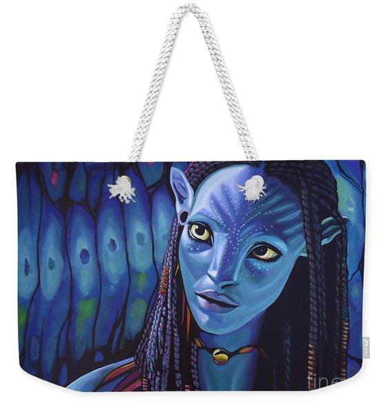 Zoe Saldana As Neytiri In Avatar Weekender Tote Bag