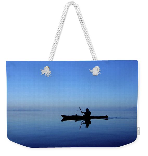 Weekender Tote Bag featuring the photograph Serenity Surrounds by Lorraine Devon Wilke