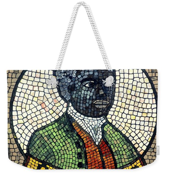 Weekender Tote Bag featuring the painting Bannaker by Cynthia Amaral