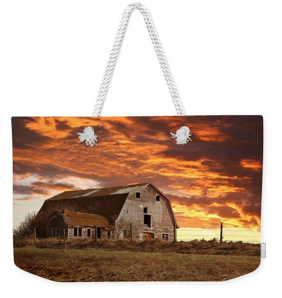 Barn On Highway 21 Weekender Tote Bag