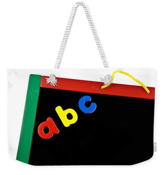 Black Board Weekender Tote Bag