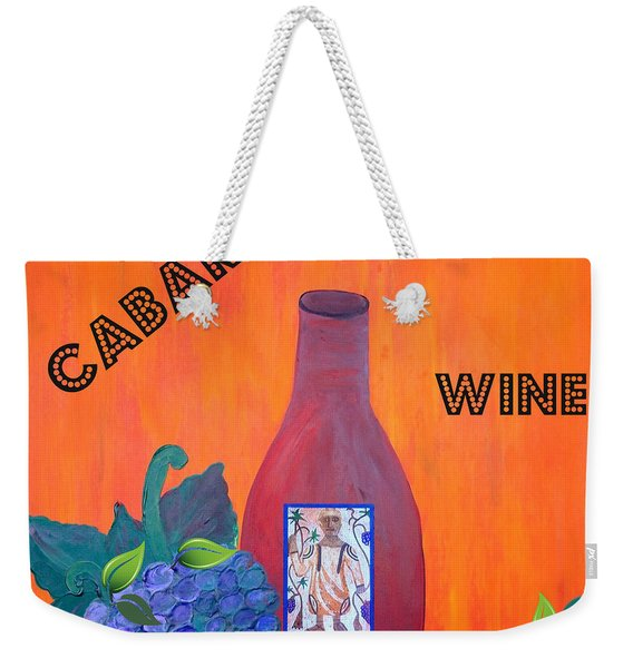 Weekender Tote Bag featuring the painting Cabaret Wine by Cynthia Amaral