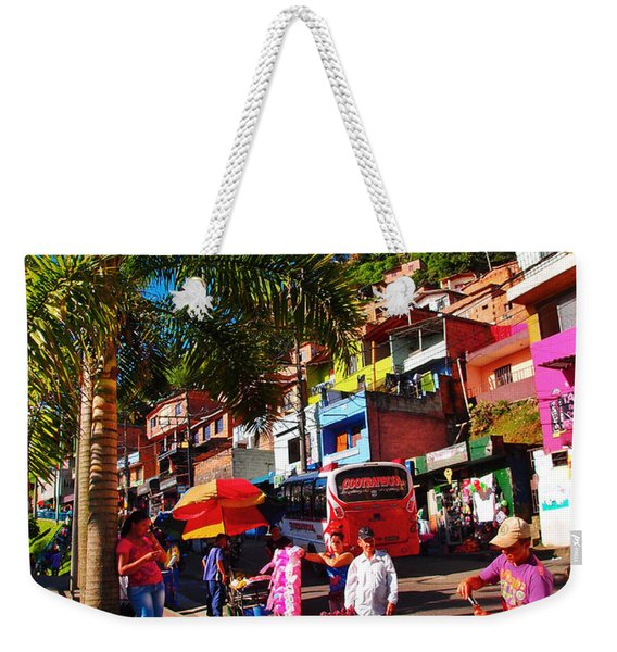 Weekender Tote Bag featuring the photograph Candy Man by Skip Hunt