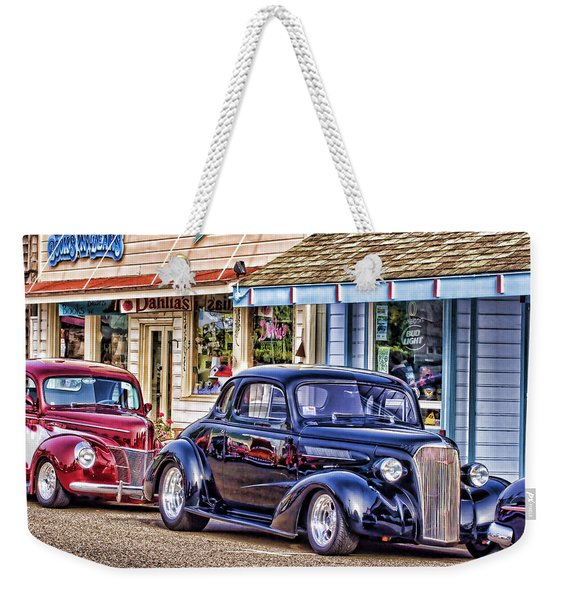 Classic Car Show Weekender Tote Bag