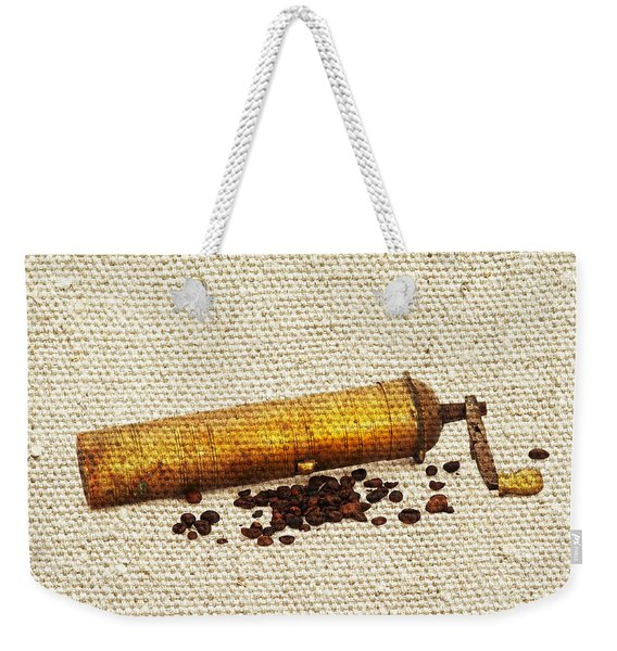 Coffee Mill And Beans Weekender Tote Bag
