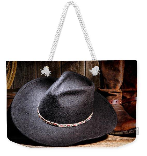Cowboy Hat Weekender Tote Bag