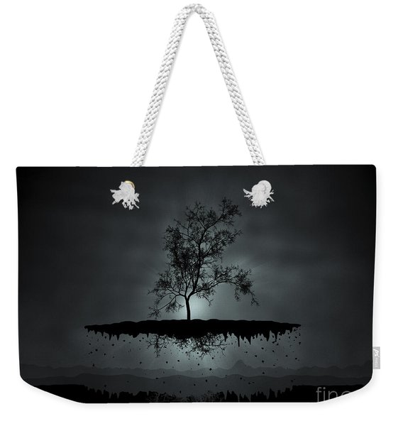 Digitally Generated Image Of A Flying Weekender Tote Bag
