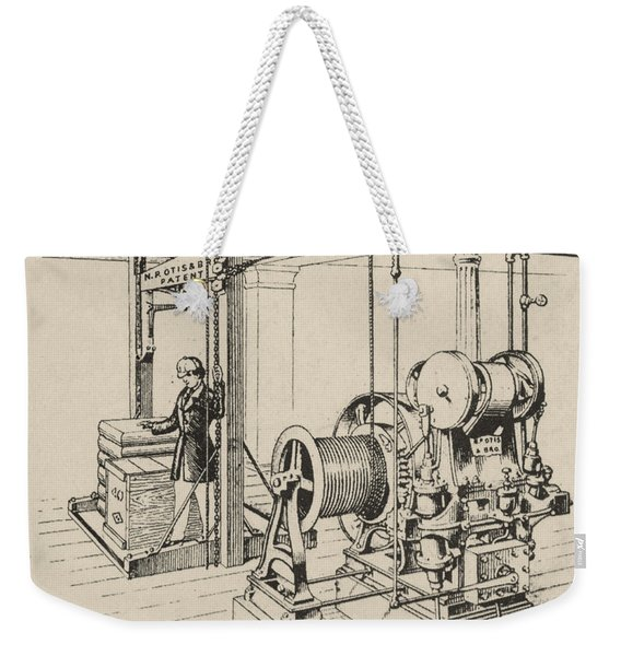 Double Oscillating Steam Engine Weekender Tote Bag