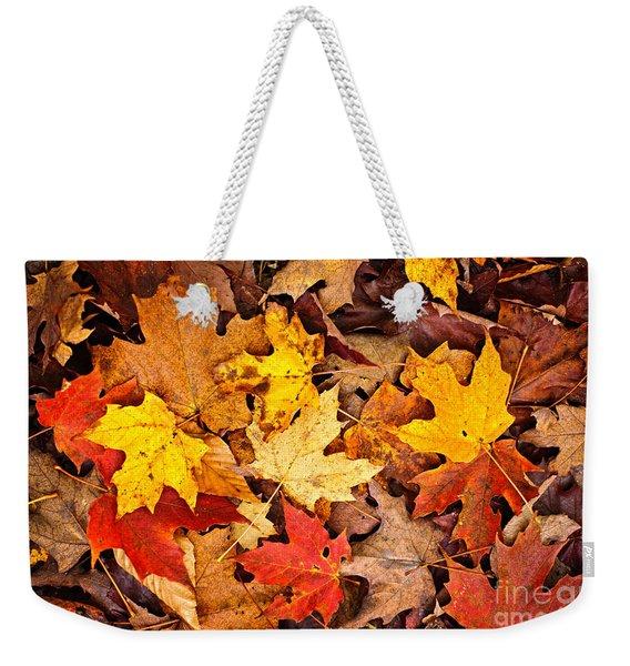 Fall Leaves Background Weekender Tote Bag