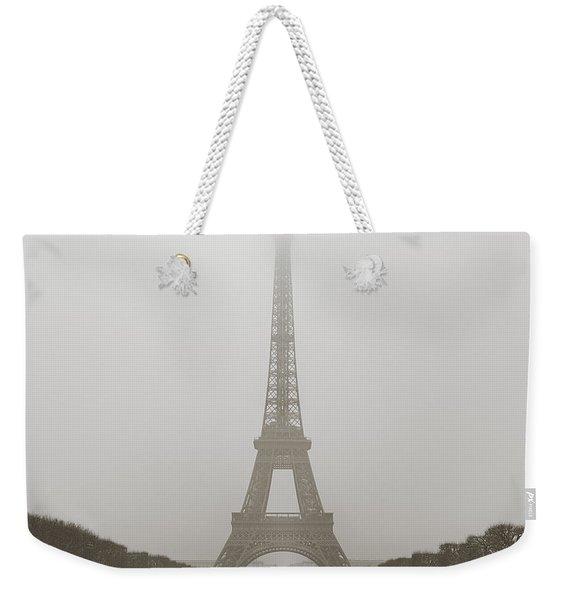 Foggy Morning In Paris Weekender Tote Bag