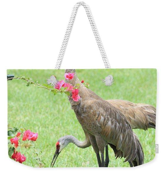 Garden Visitors Weekender Tote Bag