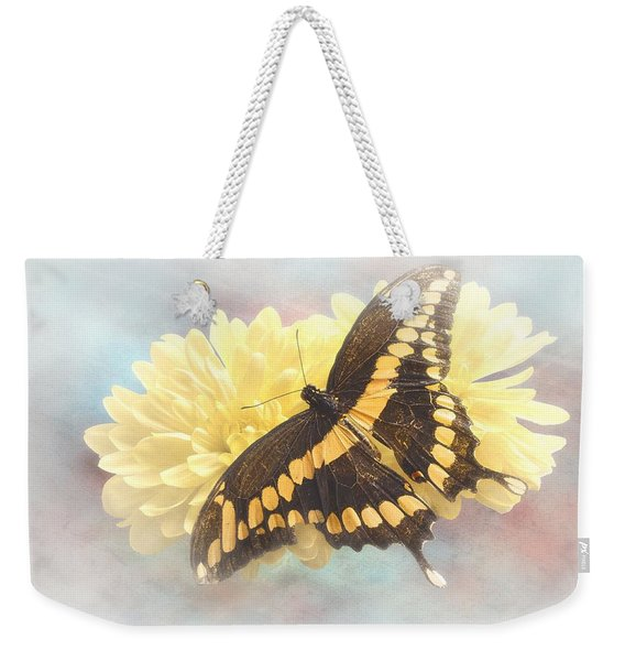 Grunge Giant Swallowtail Weekender Tote Bag