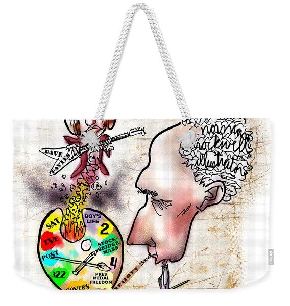 Happy Birthday Norman Rockwell Weekender Tote Bag