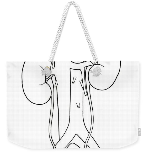 Illustration Of Female Urinary System Weekender Tote Bag