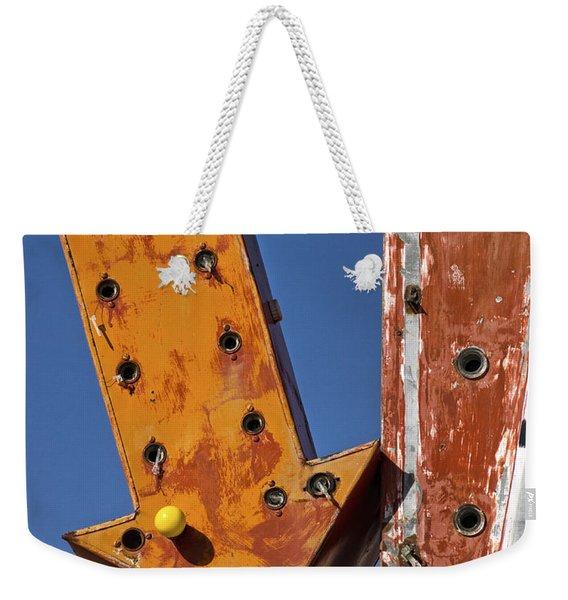 Lasso Motel Sign On Rt. 66 Weekender Tote Bag
