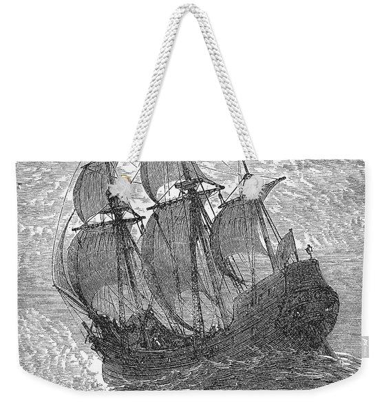 Mayflower At Sea, 1620 Weekender Tote Bag
