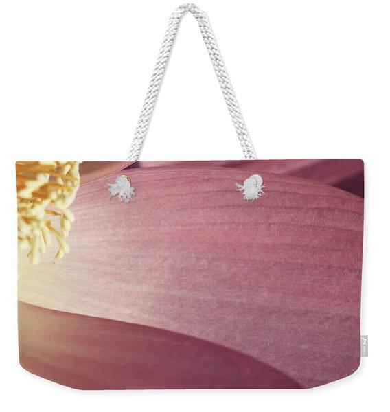 Nelumbo 'red Scarf' Weekender Tote Bag