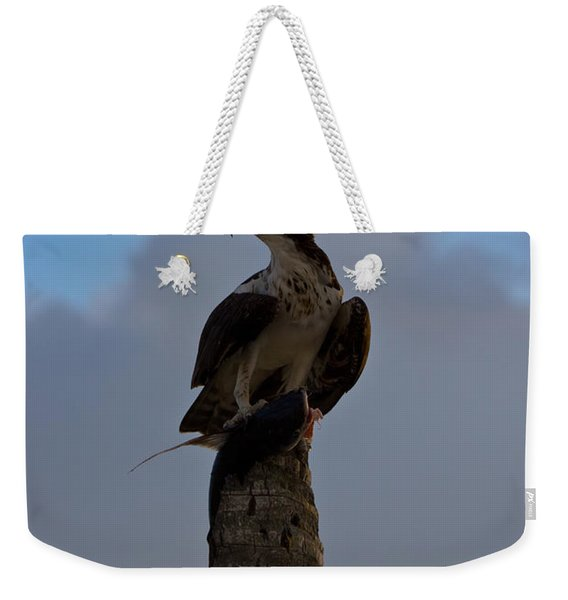 Osprey With Catch Weekender Tote Bag