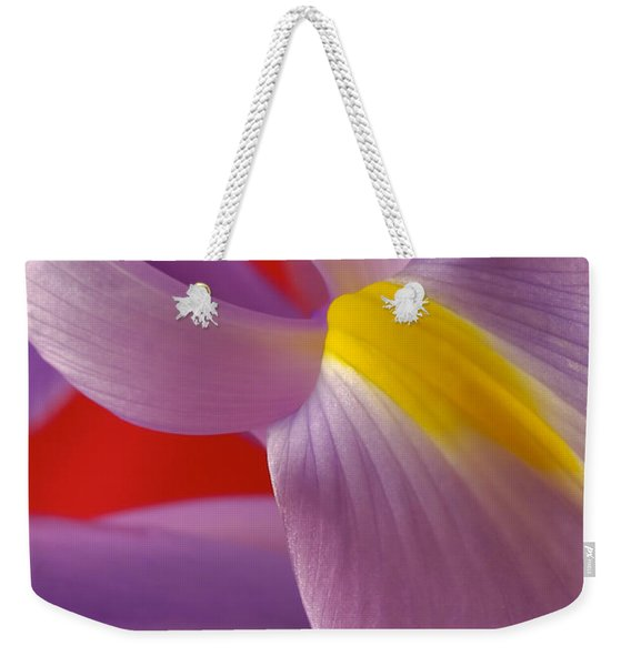 Photograph Of A Dutch Iris Weekender Tote Bag