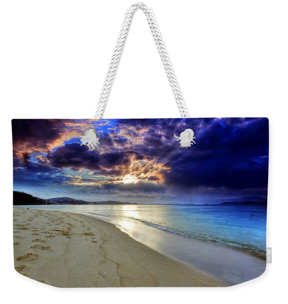 Port Stephens Sunset Weekender Tote Bag