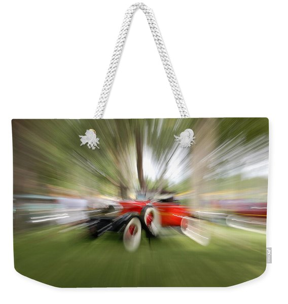 Red Antique Car Weekender Tote Bag