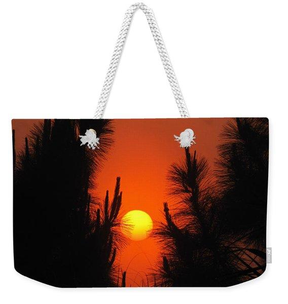 Rise And Pine Weekender Tote Bag