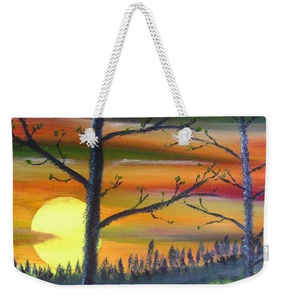 Spring Sunrise Weekender Tote Bag