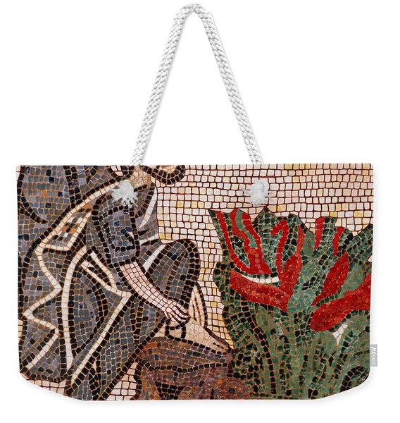 Weekender Tote Bag featuring the painting Standing On Holy Ground by Cynthia Amaral