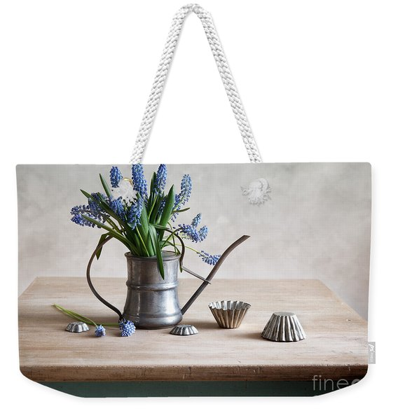 Still Life With Grape Hyacinths Weekender Tote Bag