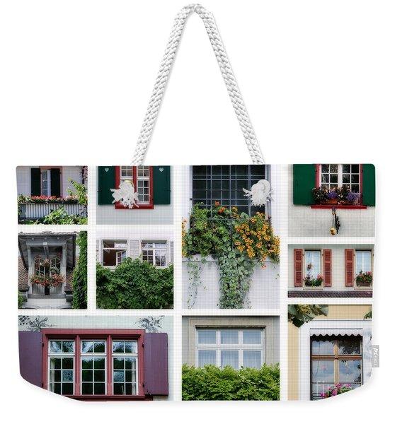 Swiss Windows Weekender Tote Bag