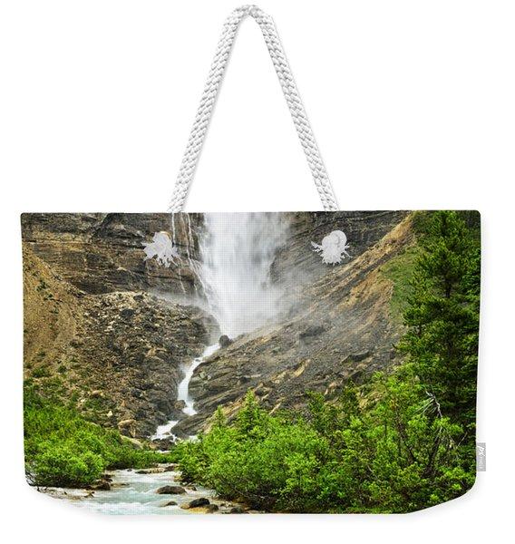 Takakkaw Falls Waterfall In Yoho National Park Canada Weekender Tote Bag