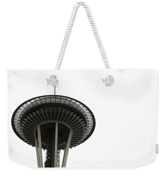 Weekender Tote Bag featuring the photograph The Needle by Lorraine Devon Wilke